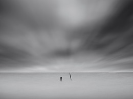 黑白极简海景风光