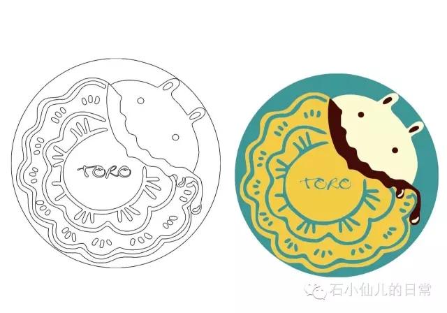 【手绘中秋】巧克力月饼包装设计