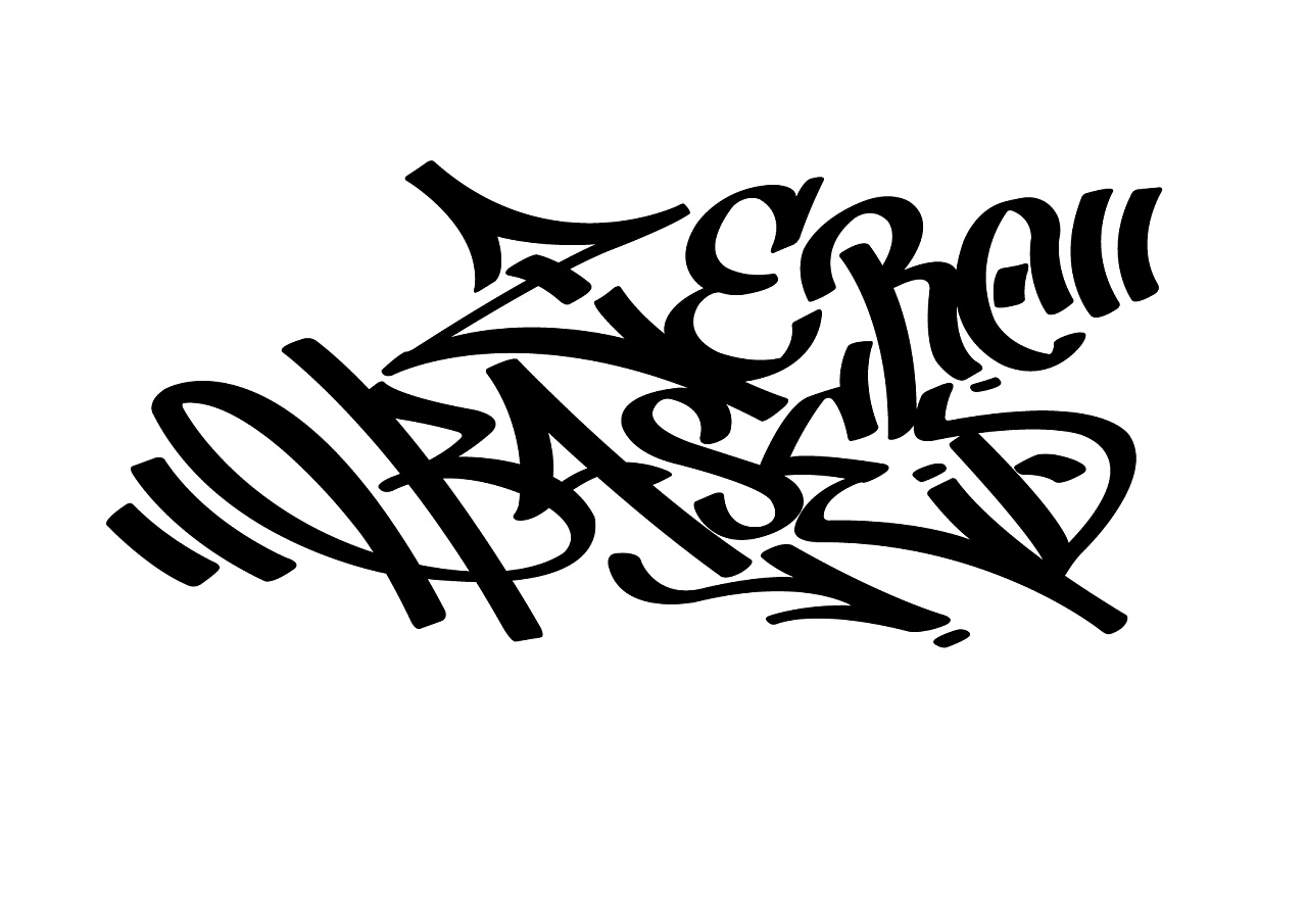 涂鸦tag英文字体整理
