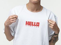 "国潮品牌STRETAG®""HELLO""短袖T恤"