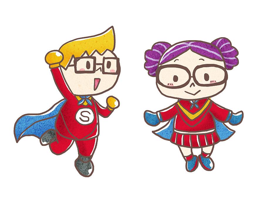 [儿童插画]小侦探出击-energetic superman 元气超人图片