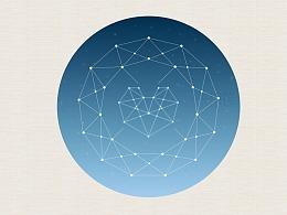 PS+AI教程之多边形线条星空