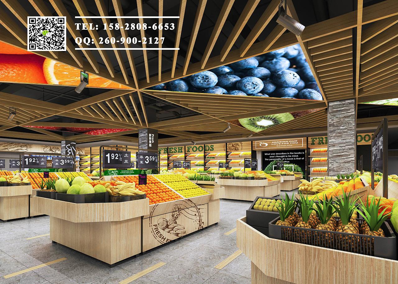 罗马超市超市设计精品|生鲜超市设计|论文精品装修设计成都室内设计效果图片