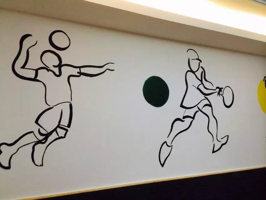 健身房 手绘墙