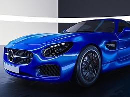 C4D+OC汽车模型渲染render