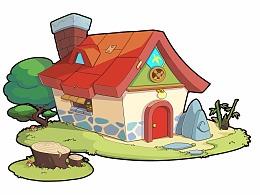 红瓦小房子