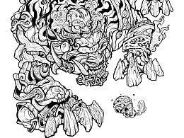 西虎 inking