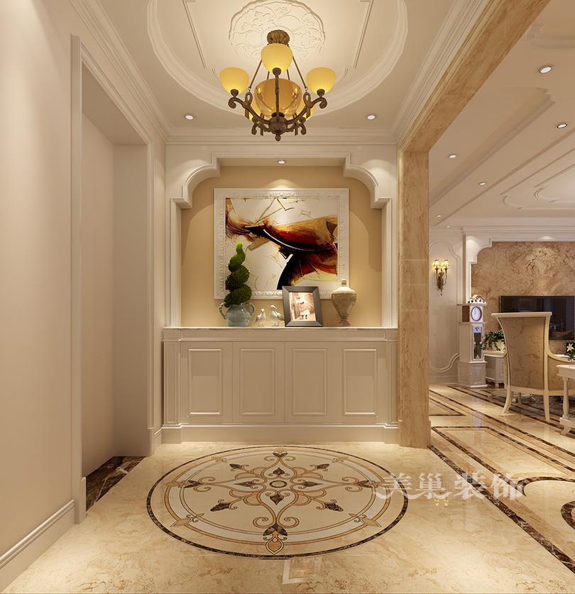 郑州正商红河谷小区130平装修效果图欧式田园风格——入户鞋柜