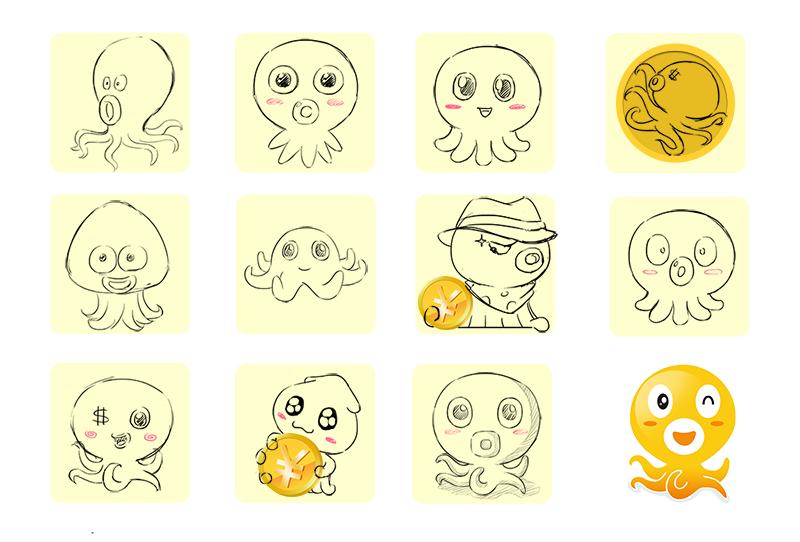 吉祥物设计 卡通小章鱼设计