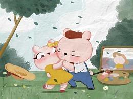 冷兔baby —— 小画家系列