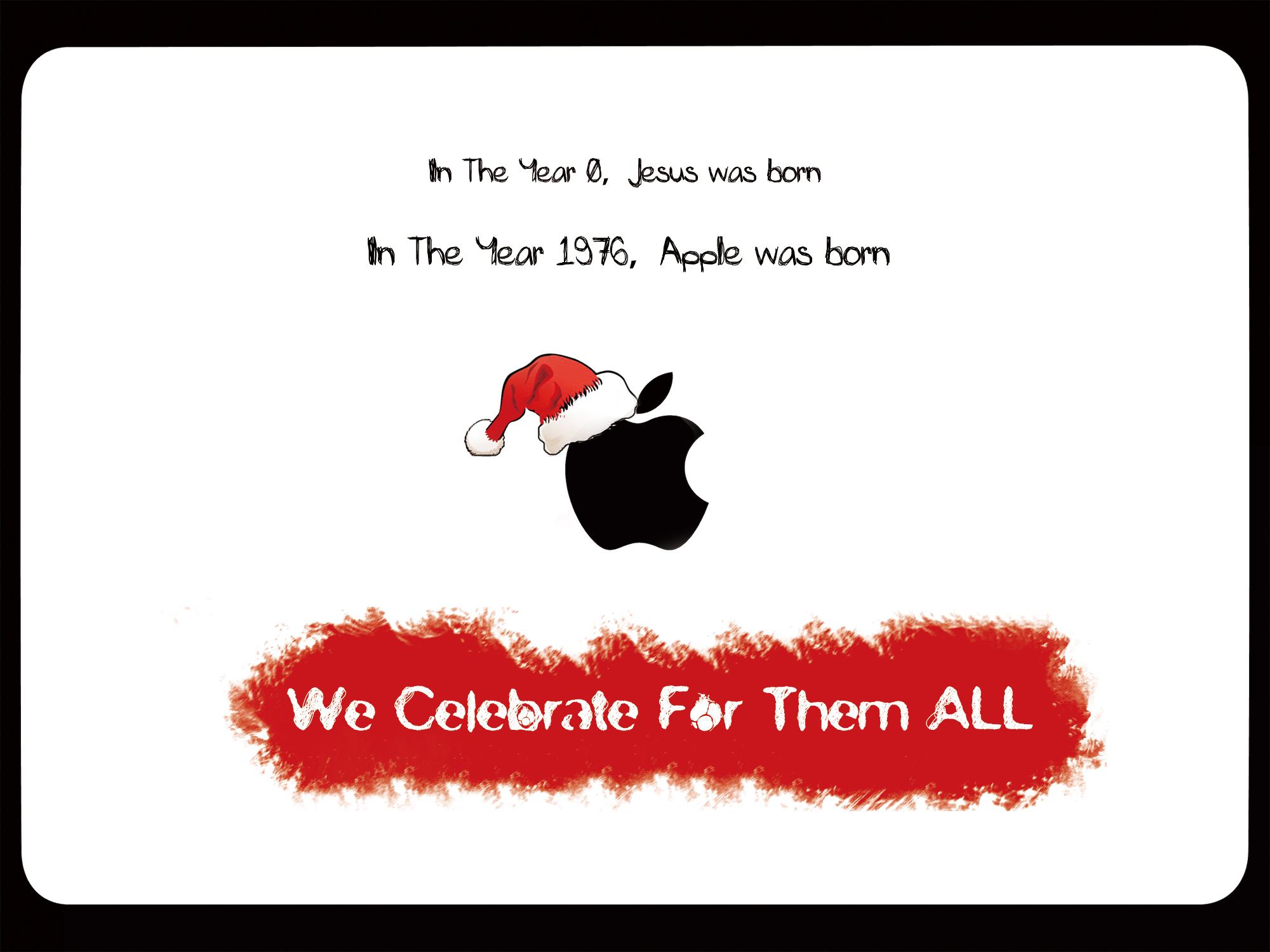 苹果,圣诞快乐