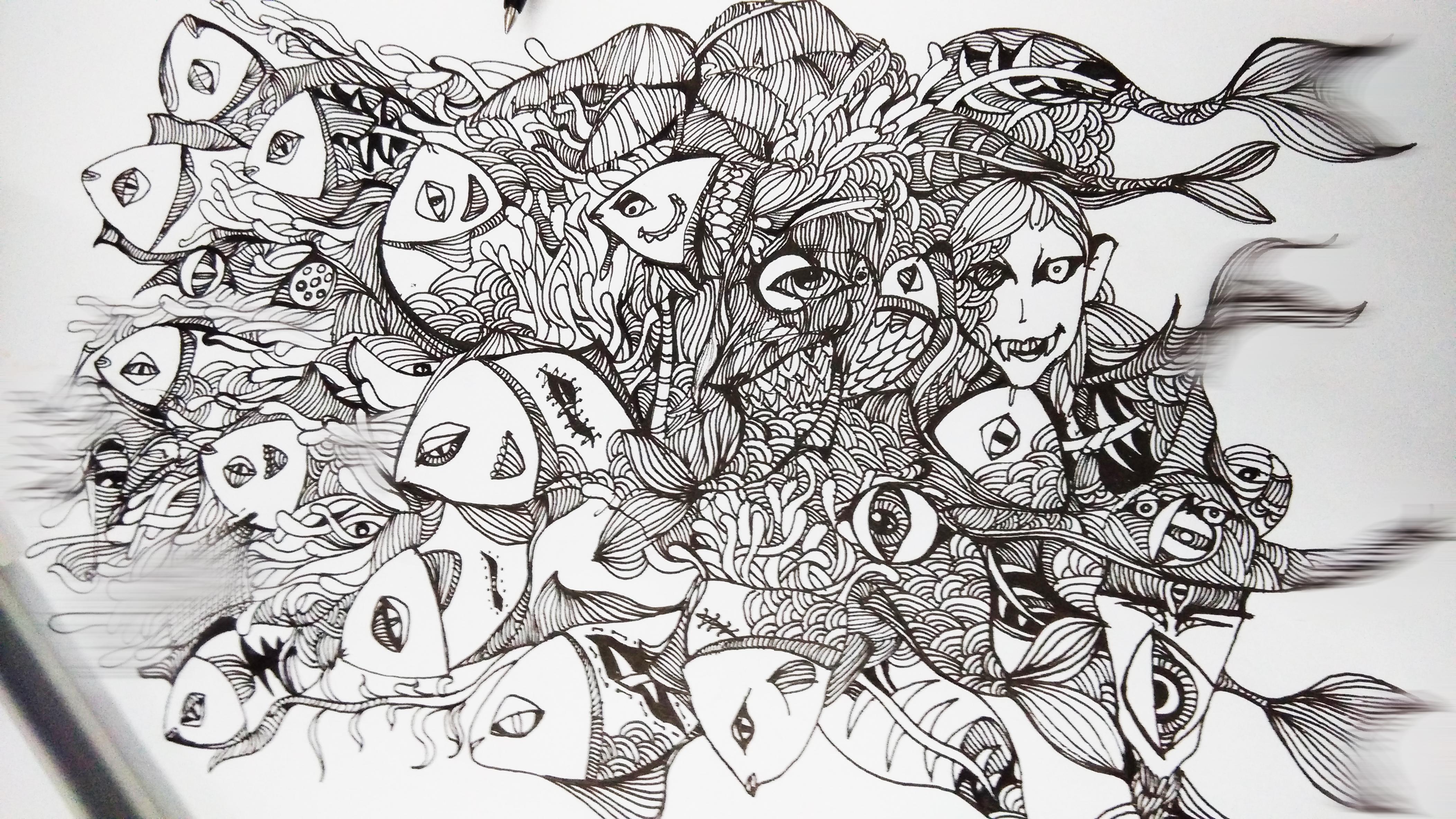 插画手绘|插画|涂鸦/潮流|言棺午木 - 原创作品