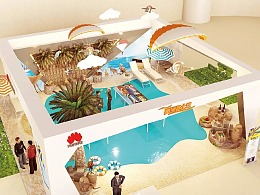 华为旅游局展厅 澳洲昆士兰州快闪店设计