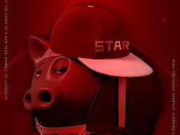 新年海报-猪年大吉