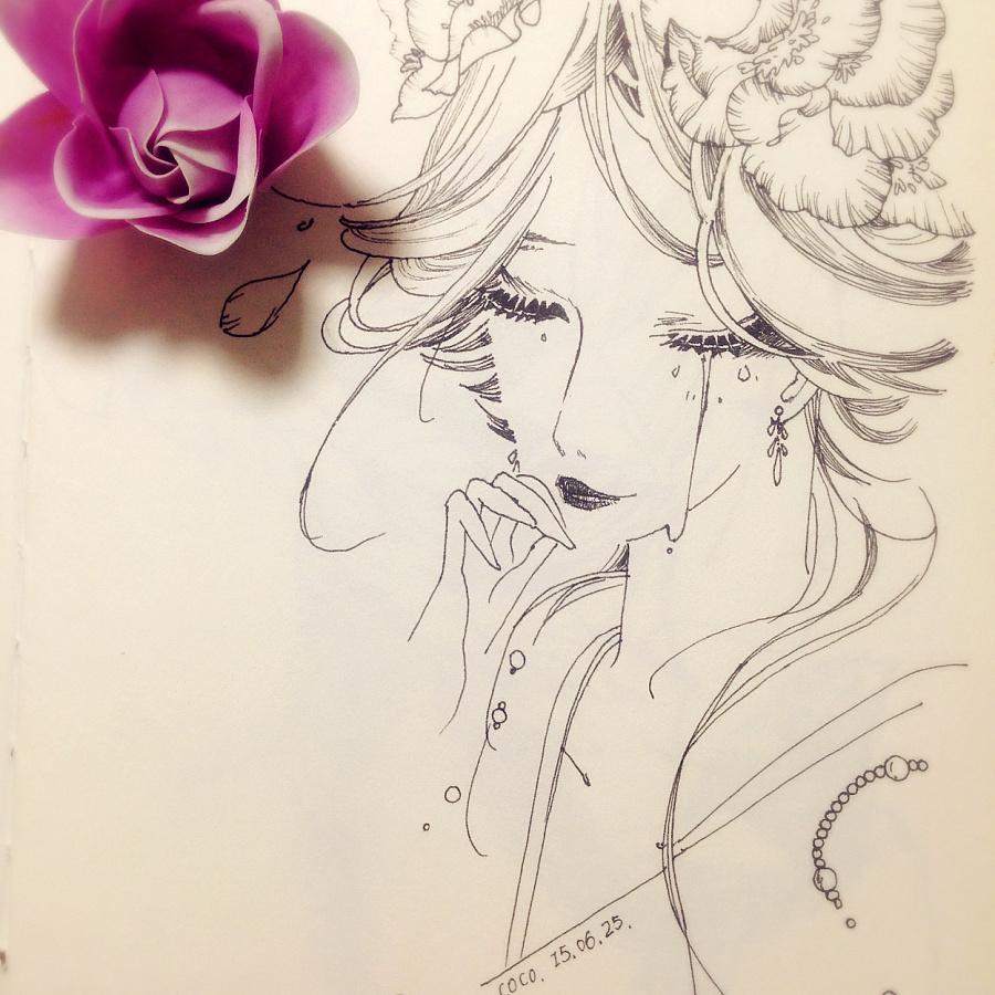 手绘少女-画本