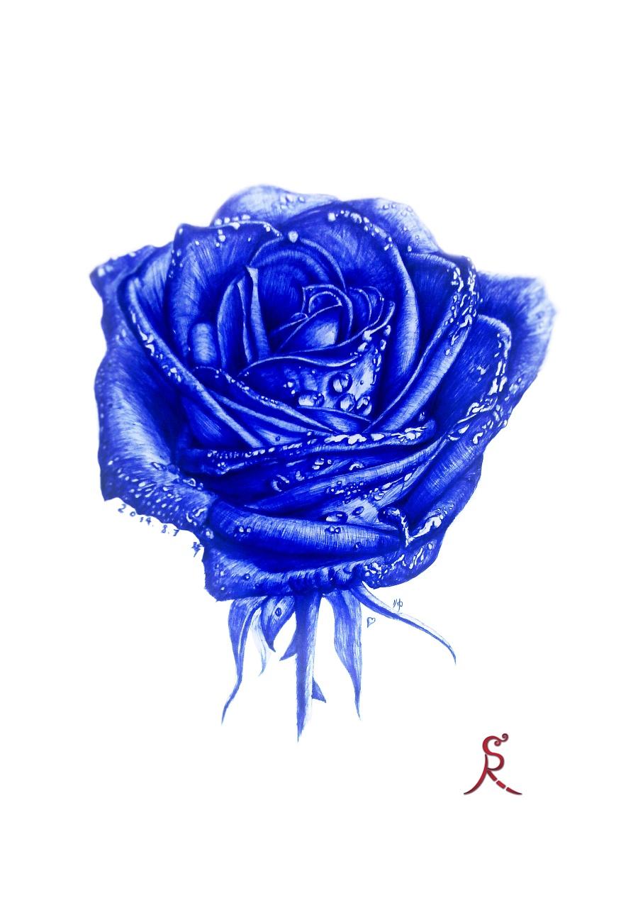 餐厅妖姬VS绘画妖姬|其他蓝色|红色|忠艾-原创海南插画装修设计图片