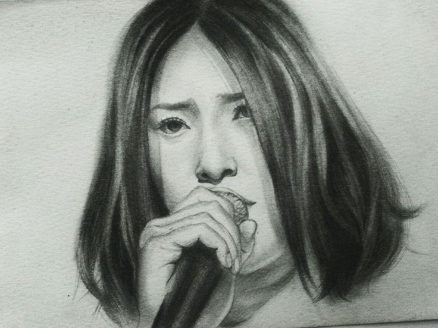 周笔畅/黑白手绘