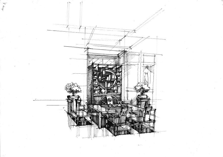 随笔线稿 室内设计 空间/建筑 mhc绘 - 原创设计作品