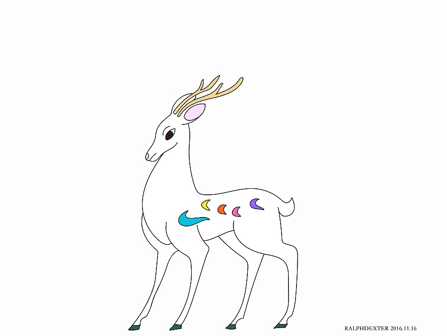 九色鹿 中国动漫临摹
