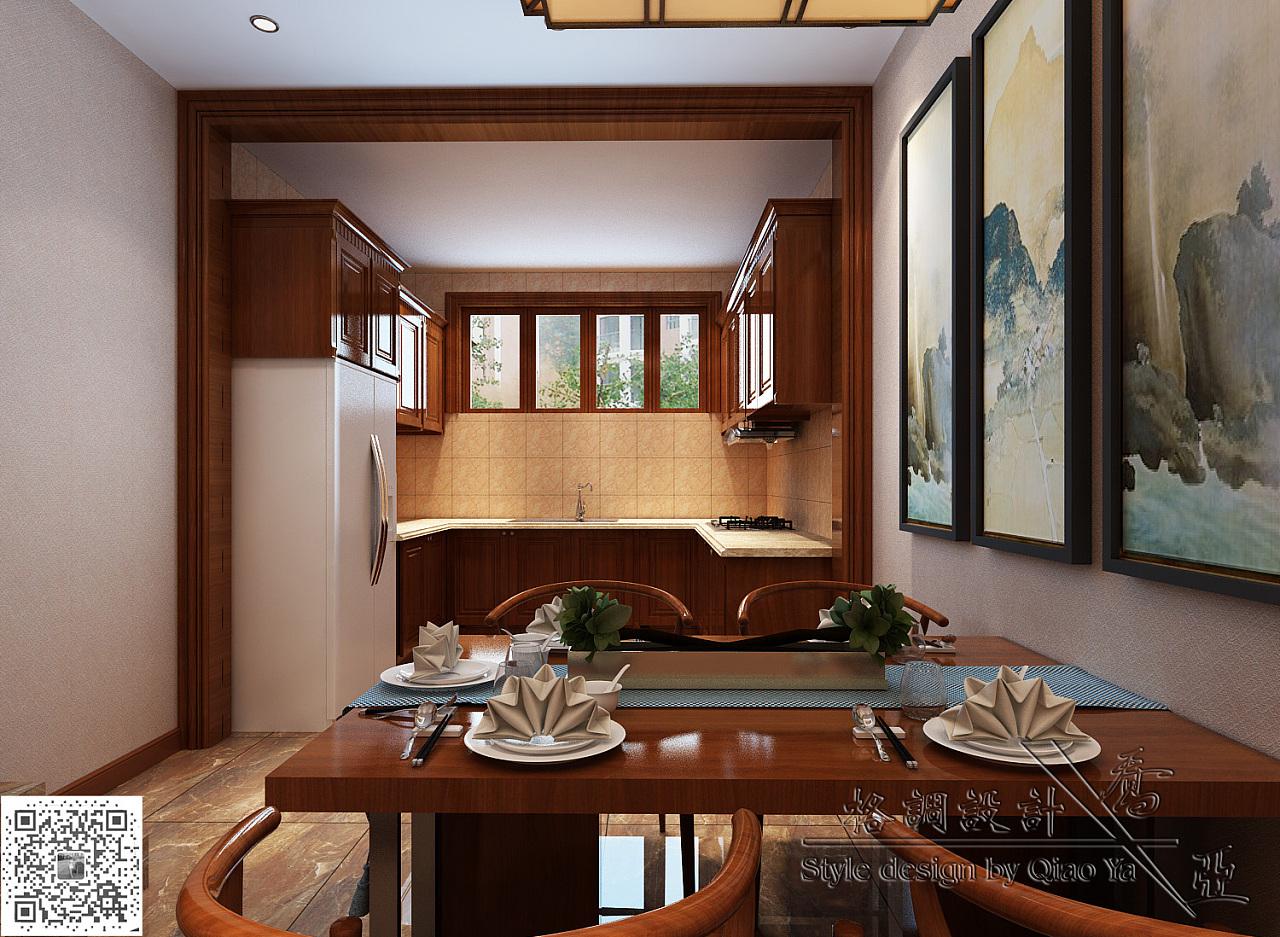 优雅新中式风格设计|空间|室内设计|乔亚设计 - 原创