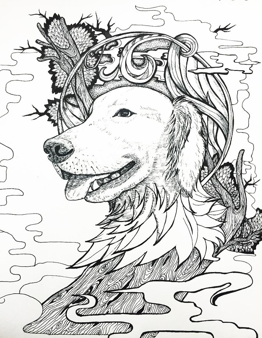 原创作品:手绘线条