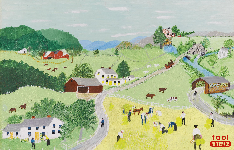 客厅博物馆的高清田园风景大图
