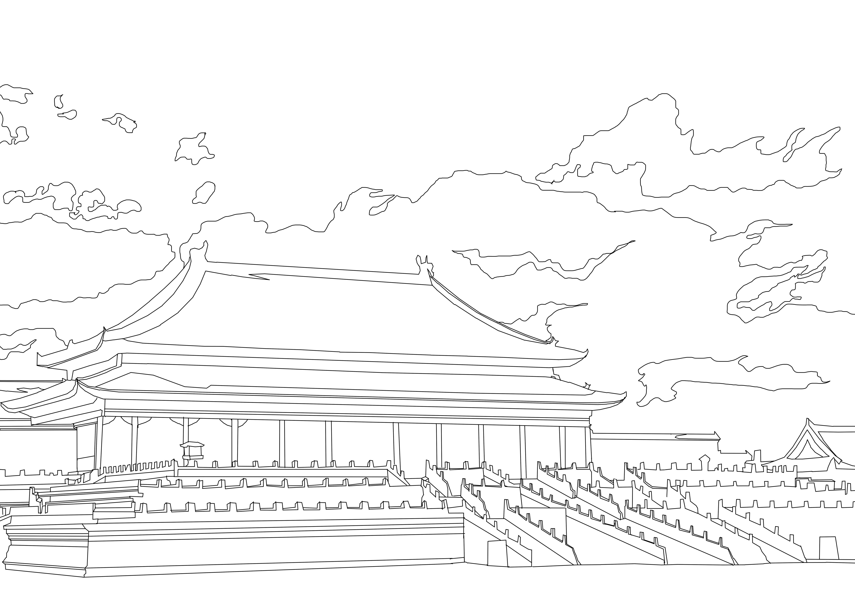 故宫手绘简笔画