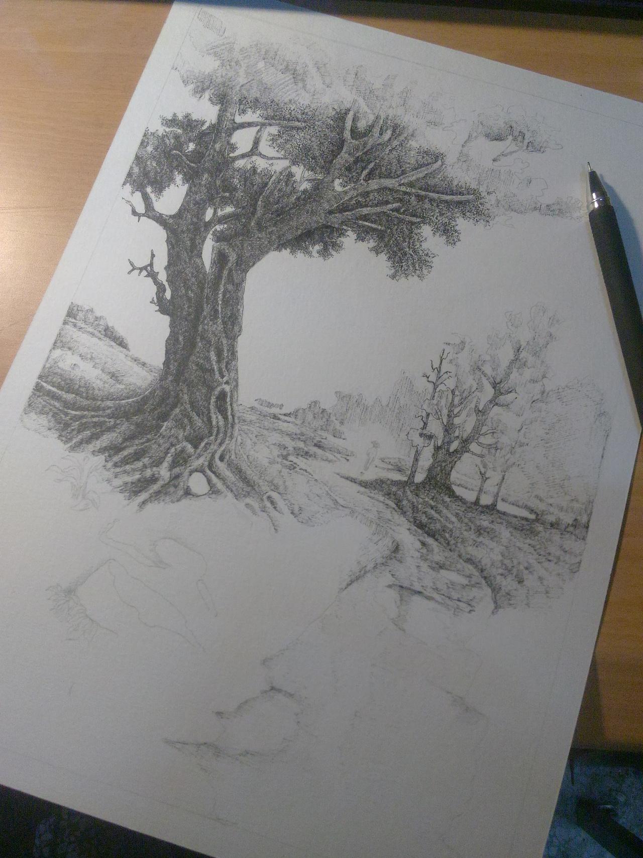 黑白风景画_黑白风景画|纯艺术|其他艺创|德配天地 - 原创作品 - 站酷 (ZCOOL)