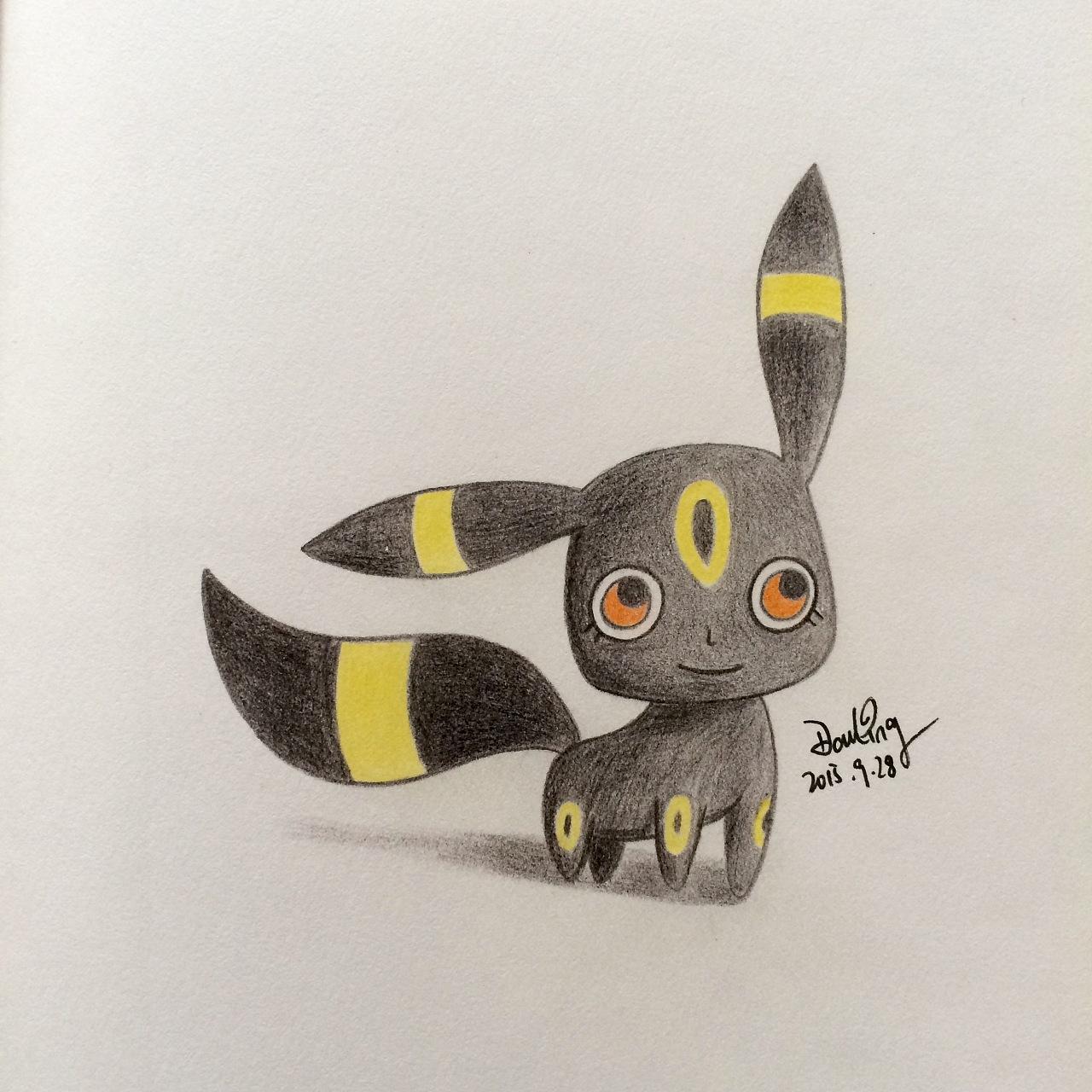 彩铅手绘宠物小精灵