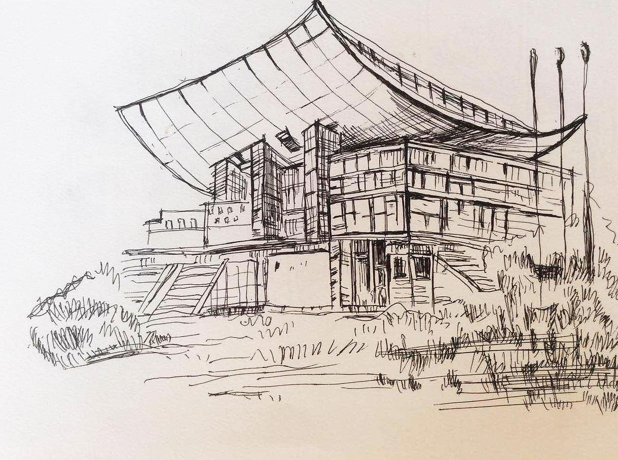 简笔画 手绘 素描 线稿 1219_908