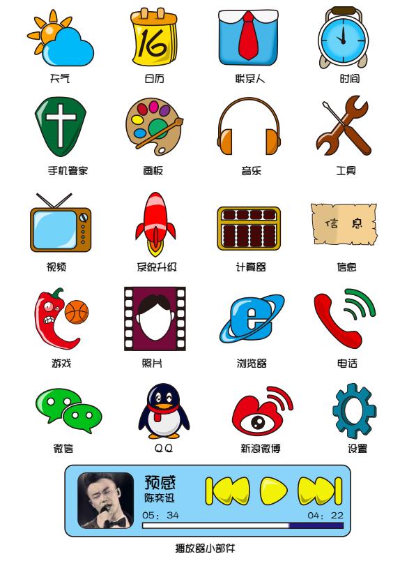 校园风手绘手机主题图标|图标|ui|喵猩人zz