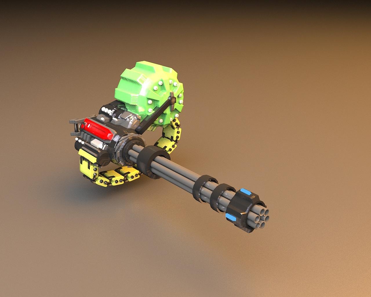 加特林机炮图片