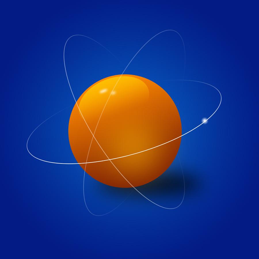蓝色梦幻水晶球
