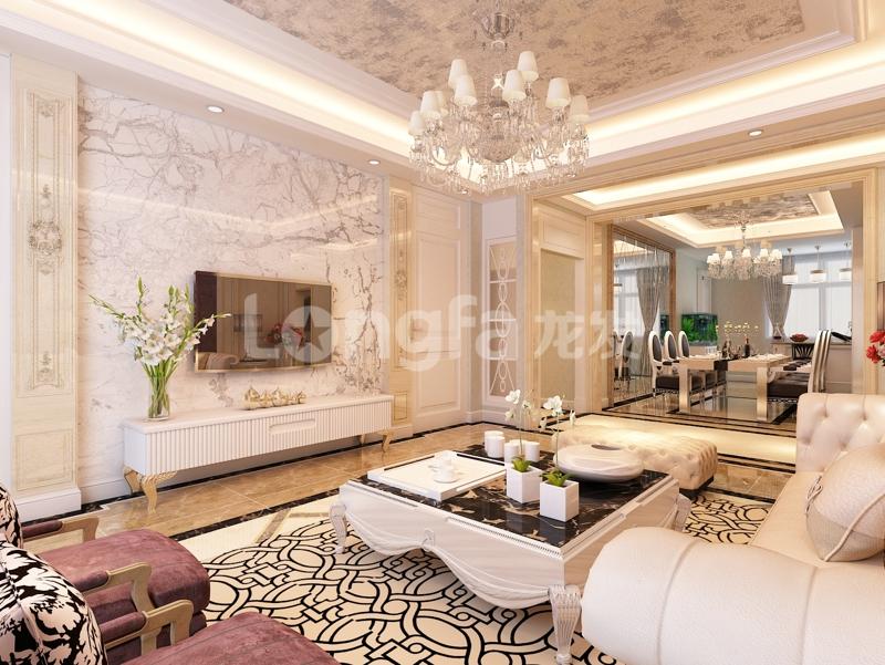 紫晶悦城206平简欧装修效果图《简欧之家》|室内设计
