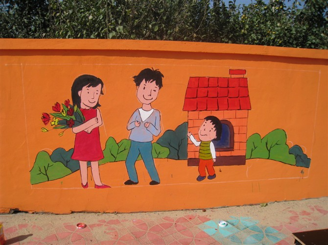 临沂幼儿园手绘