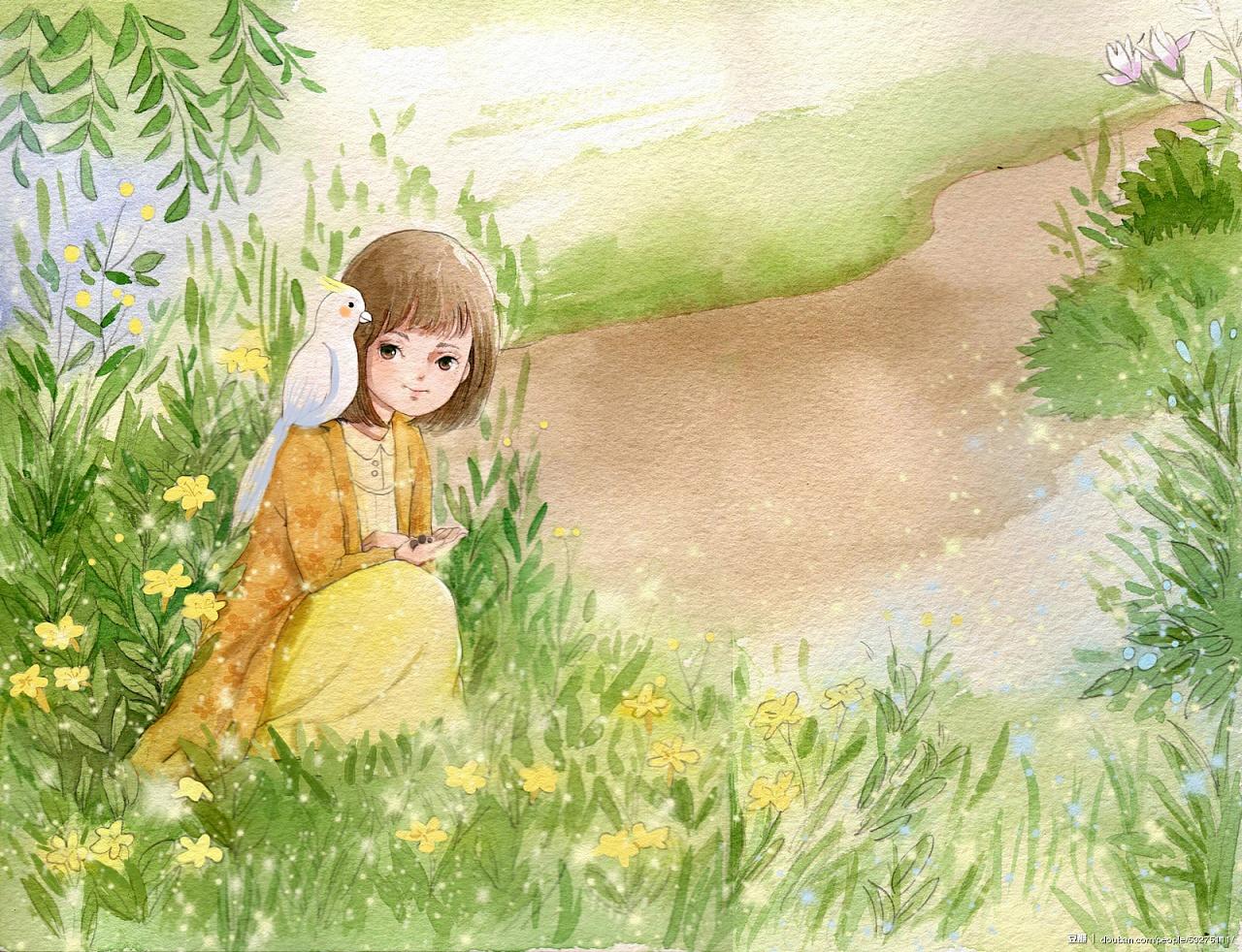 水彩手绘插画