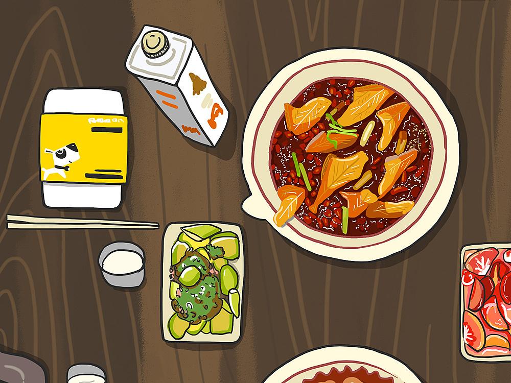 《聚餐》品牌菜品手绘