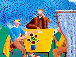 《致敬大师系列1:大卫·霍克尼David Hockney》