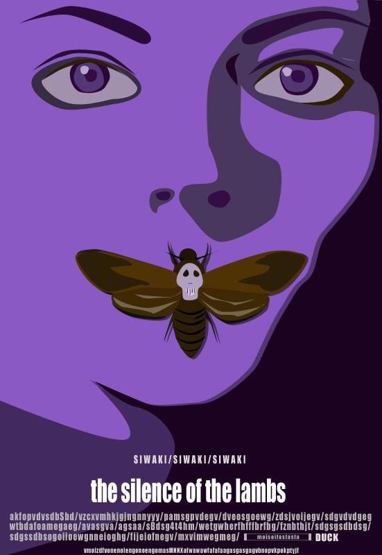紫色的沉默的羔羊|海报|平面|siwaki