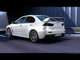三菱EVO汽车渲染