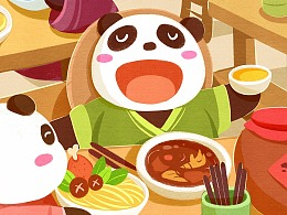 中国吃货小熊猫