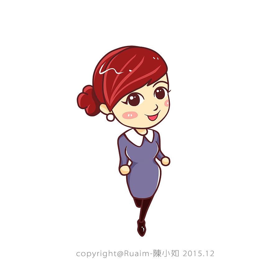 奔跑吧~卡通表情绘GIF插画|表情肖像|商业|R灭王者荣耀的团插画包图片