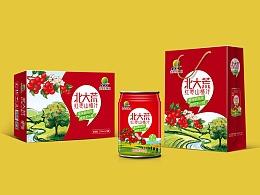 红枣山楂汁饮料包装设计、易拉罐饮料包装设计