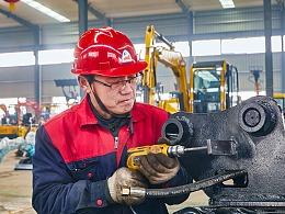 【上鼎机械】厂区环境挖掘机宣传图拍摄
