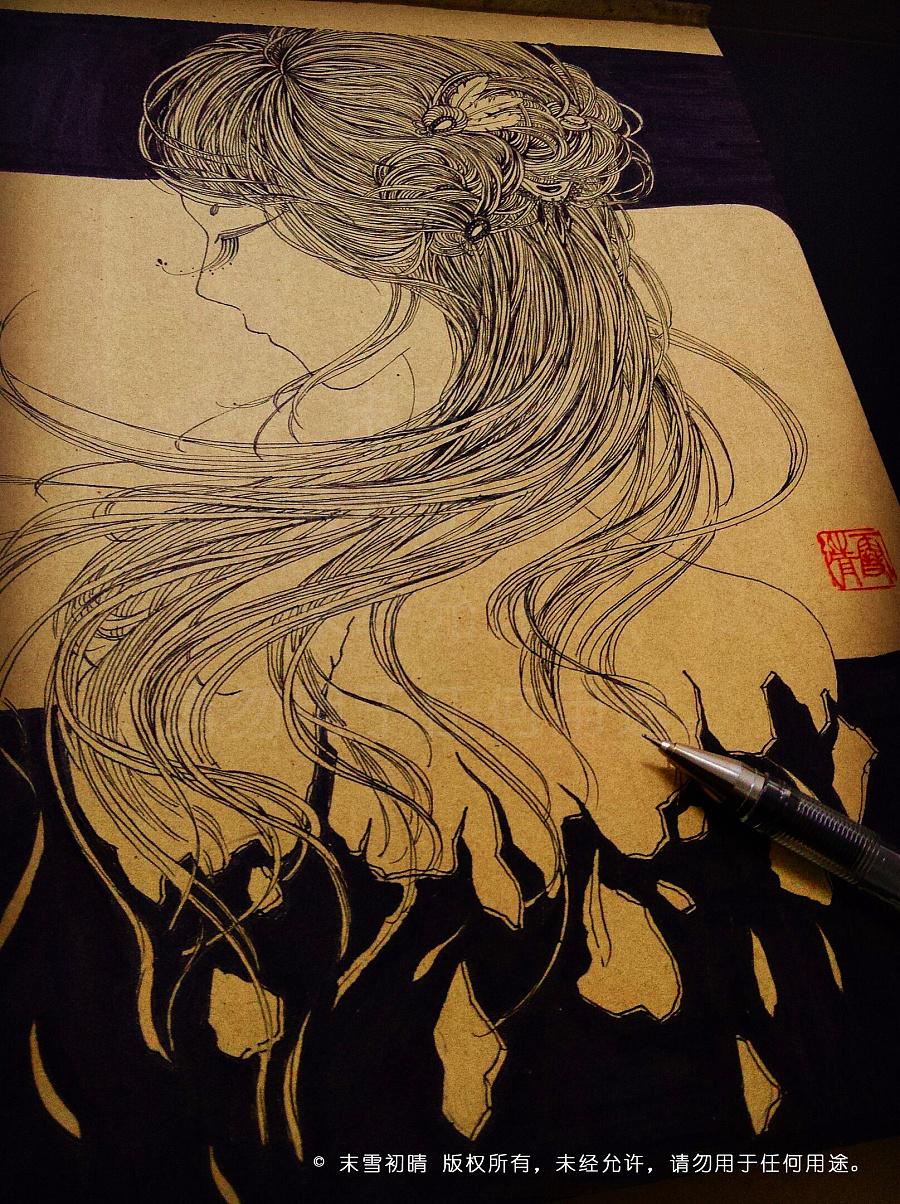 《魅》系列——原创手绘线描人物