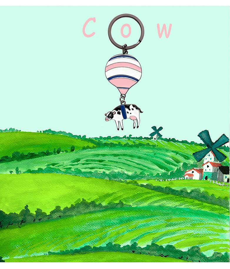 热气球旅行钥匙圈