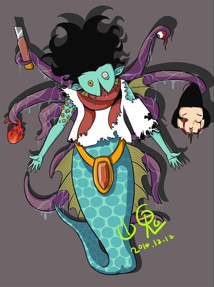 可爱小触手 漫画 单幅动漫 _山鬼-原创作品-站a哥漫画图片