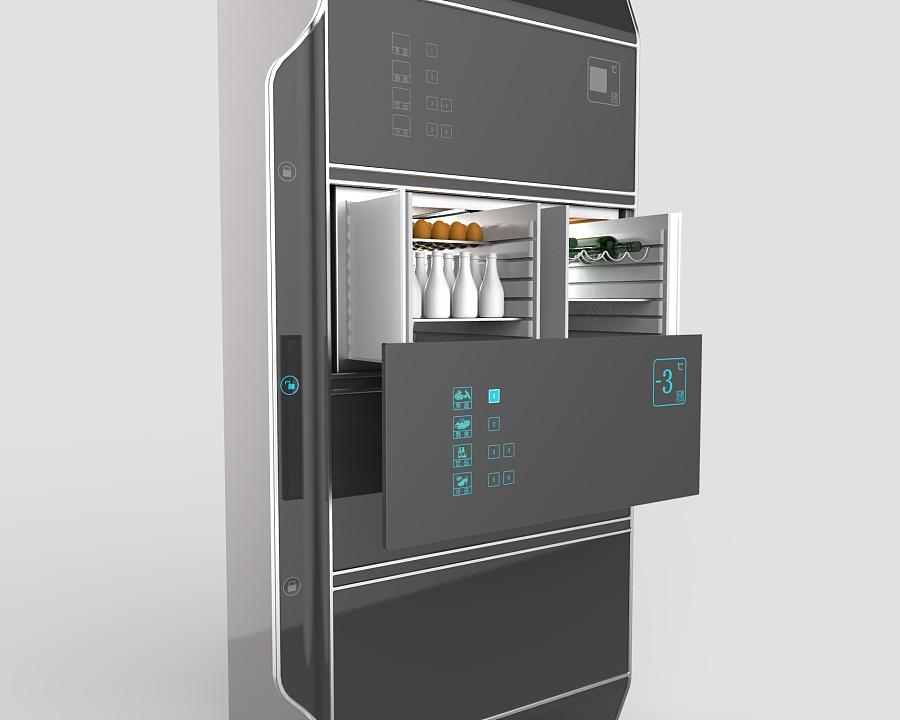 智能冰箱设计 生活用品 工业/产品 设计初学生 - 原创图片