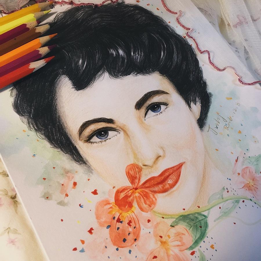 手绘彩铅人物|其他绘画|插画|luoyao123456