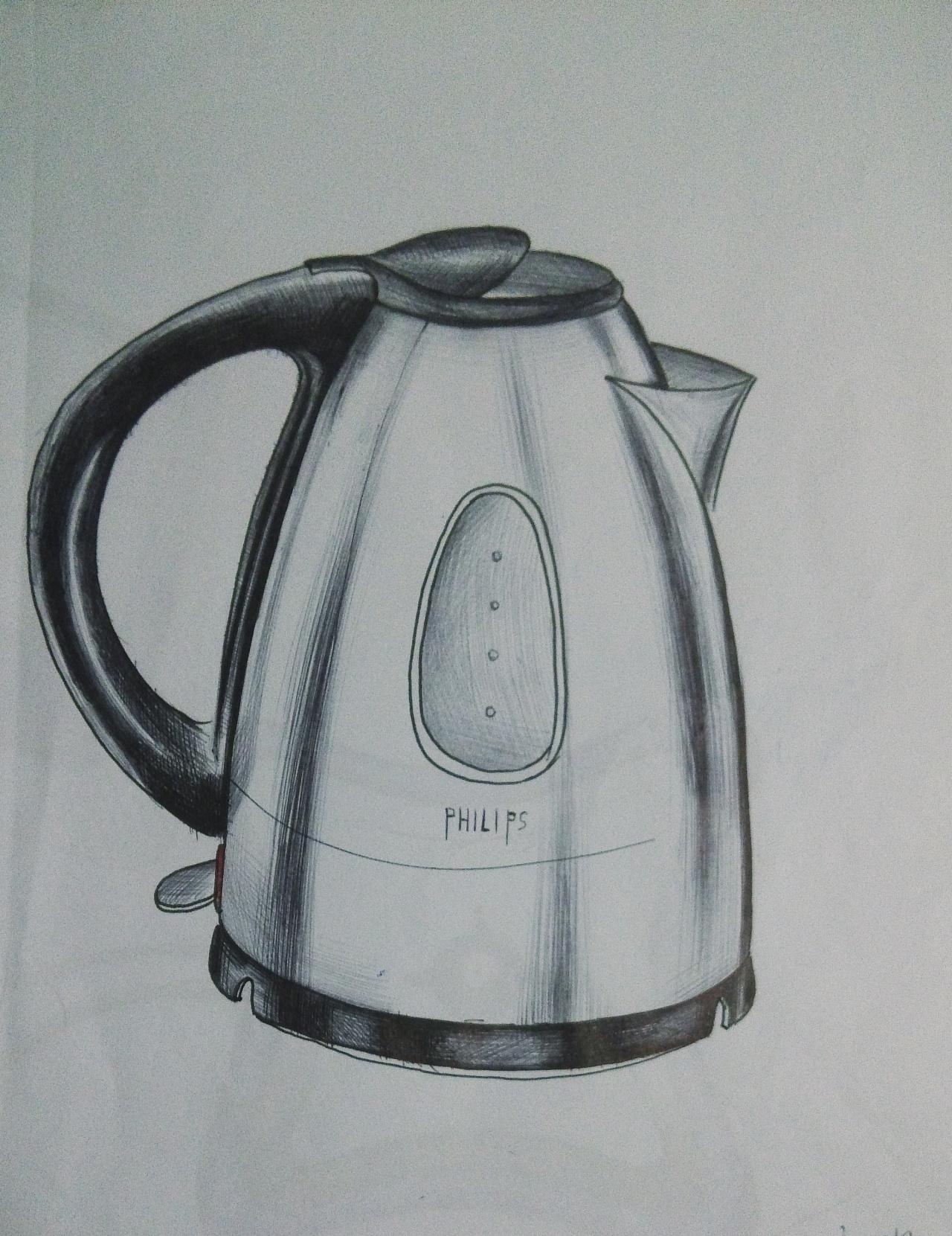 水壶手绘效果图